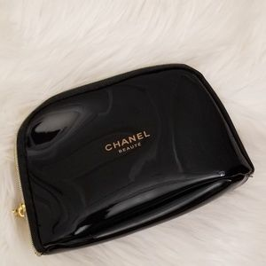 NEW Chanel Beaute Black Cosmetic Makeup Bag